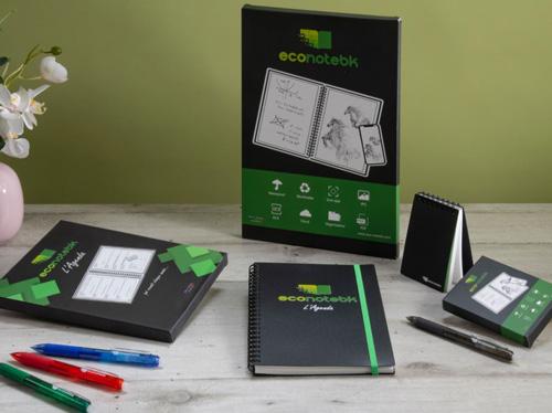 Cahier réutilisable agenda econotebk, bloc-notes réutilisable avec boîte