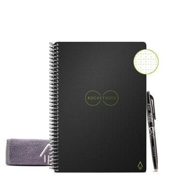 Cahier réutilisable everlast A5 avec stylo et chiffon