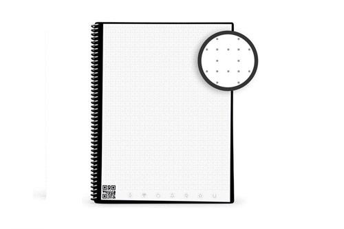 cahier réutilisable avec modèle de page en grille de point