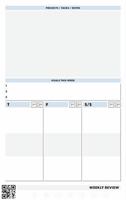 page hebdomadaire 2 cahier réutilisable rocketbook panda planner