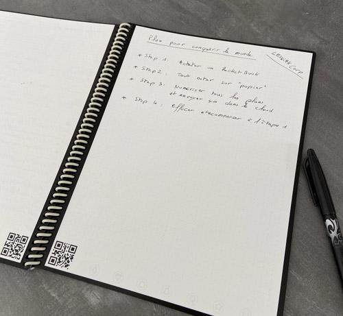 Cahier réutilisable rocketbook everlast core