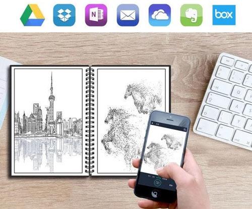 cahier réutilisable avec application et stockage cloud