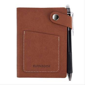 Bloc-notes réutilisable Elfinbook Mini marron