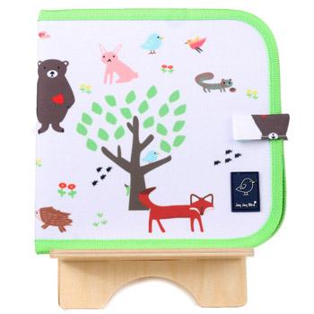 Cahier ardoise Forest vert avec dessin animaux et arbres