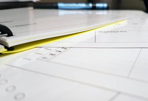 Pages cahier réutilisable WhyNote empillés