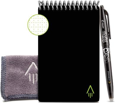Bloc-notes réutilisable Rocketbook Mini A6 noir avec accessoires