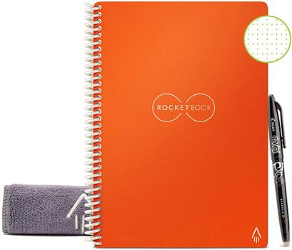 Cahier réutilisable rocketbook everlast core A5 orange avec chiffon et stylo