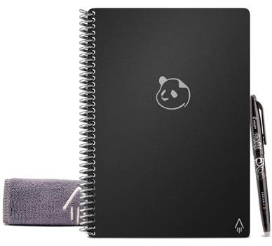 cahier réutilisable panda planner A5 noir avec accessoires